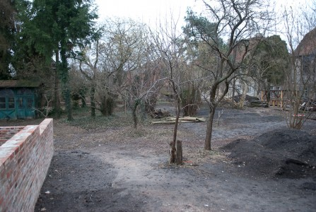 Garten im März 2009