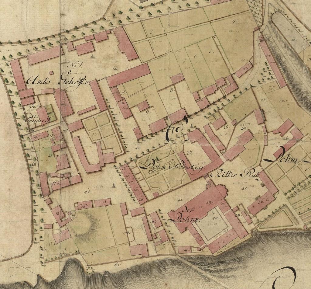 Plan des Domgebietes von 1797, Kurie D8 unter Ziffer '9'