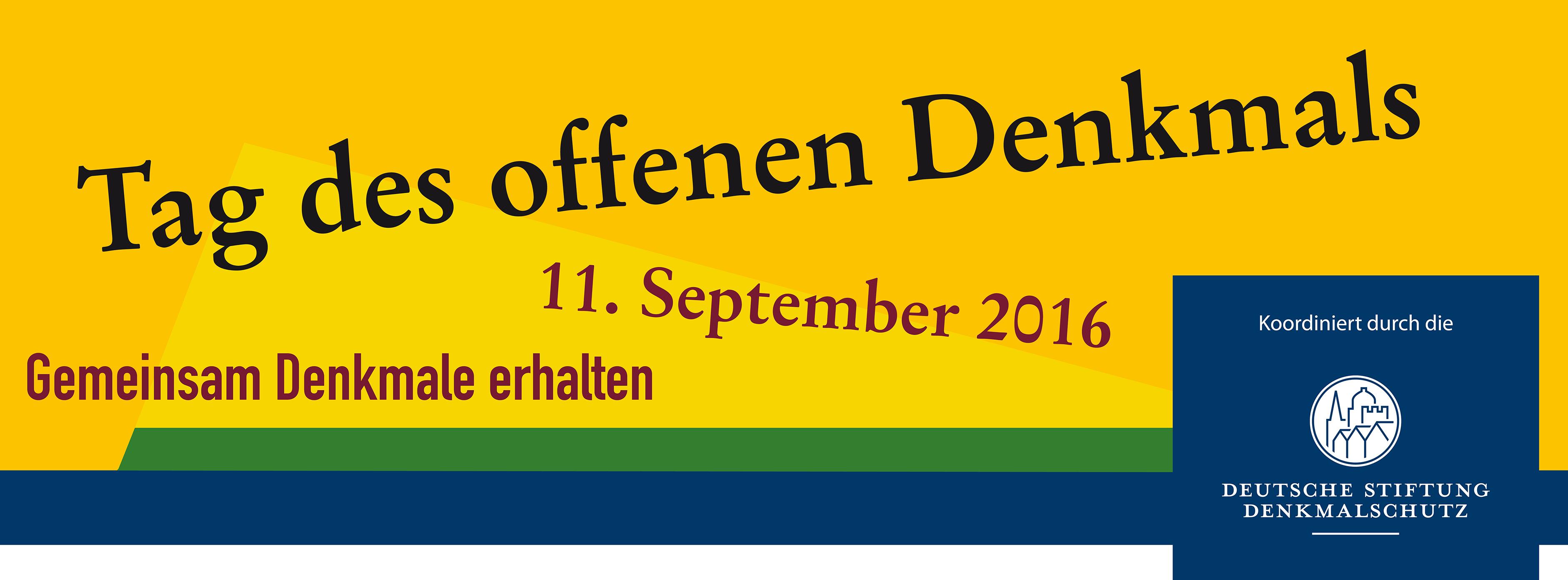 Tag des offenen Denkmals – 11. September 2016